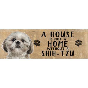 Wooden Sign - Shih-Tzu Dog