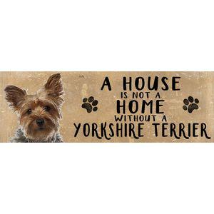 Wooden Sign - Yorkshire Terrier Dog
