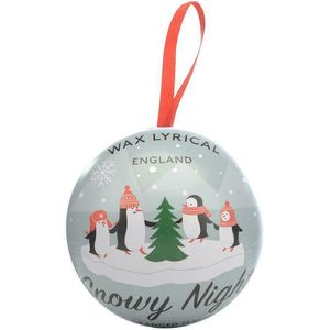 Wax Lyrical Christmas Bauble Filled with 9 Tea Light Candles - Snowy Night