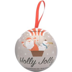 Wax Lyrical Christmas Bauble Filled with 9 Tea Light Candles - Holly Jolly