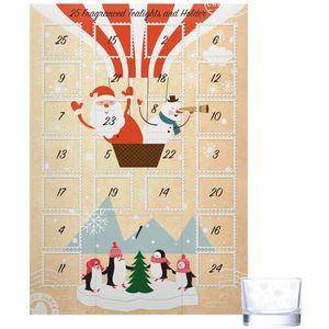 Wax Lyrical Advent Calendar with 25 Tea Lights & Holder - Letters to Santa
