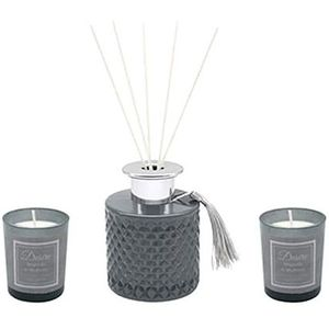 Desire Boutique Reed Diffuser & Votive Candle Gift Set - Magnolia & Mulberry