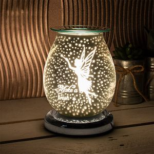 Desire Electric Aroma Lamp Wax Melt Burner - White Satin Fairy