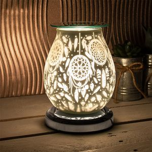 Desire Electric Aroma Lamp Wax Melt Burner - White Satin Dreamcatcher