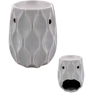 Ceramic Wave Wax Melt Warmer/Oil Burner - Grey