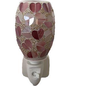 Sense Aroma Electric Wax Melt Burner Plug In - Oval Mosaic Red Hearts