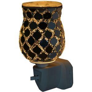 Sense Aroma Electric Wax Melt Burner Plug In - Tulip Mosaic Silver Moroccan