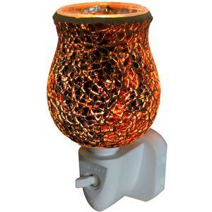 Sense Aroma Electric Wax Melt Burner Plug In - Tulip Mosaic Burnt Orange Crackle