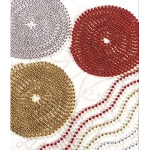 Christmas Tree Decoration - Beaded Garland 18M Red