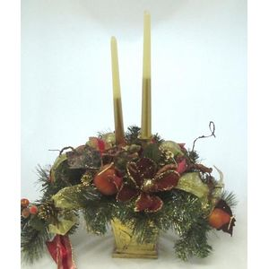 Christmas Candle Holder Table Centrepiece