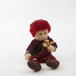 Soft Rag Doll Holding Stocking Christmas Decoration