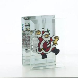 Christmas Tea Light Candle Holder - Santa