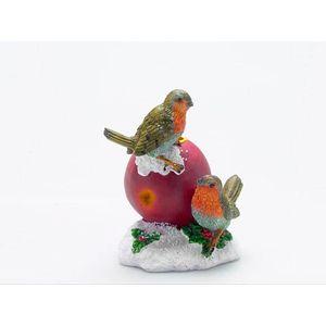Christmas Tea Light Candle Holder - Robins on Apple