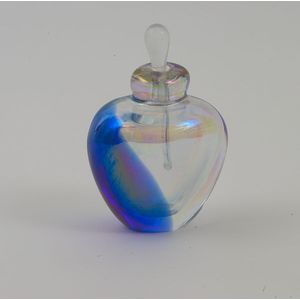 Clear Metallic with a flash of Blue Perfume Bottle