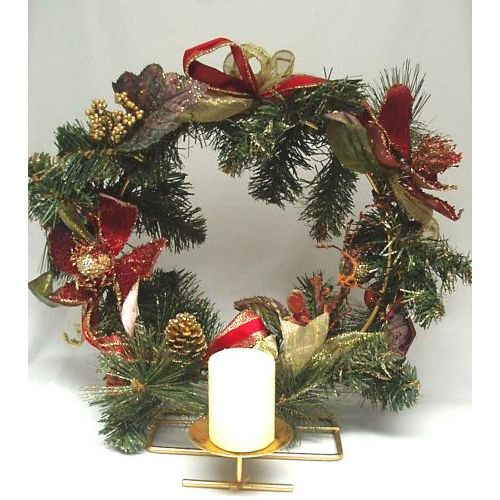 Christmas Wreath with Candle Holder