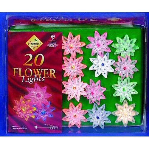Premier 20-bulb Flower Lights - multicolour