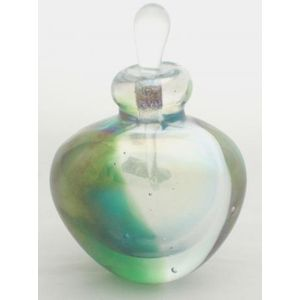 Clear With A Flash Of Green Perfume Bottle