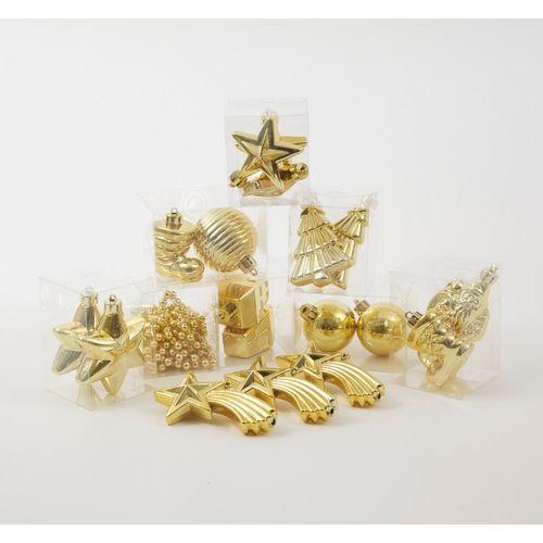 Christmas Tree Decoration Assortment (19 Pieces) -  Gold