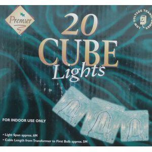20-Acrylic Ice Cube Christmas Lights