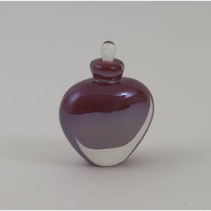 Red Metallic Perfume Bottle