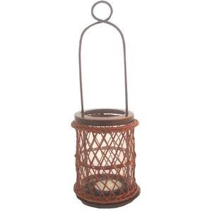 Tea Light Candle Holder - Basket with Handle