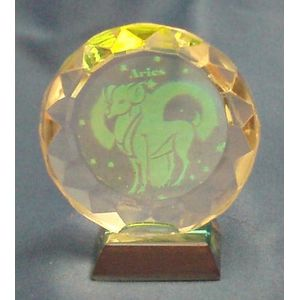Aries Star Sign Crystal