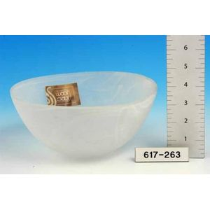Clouded Effect Glass Bowl