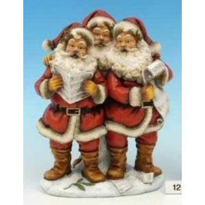 Christmas Decoration - Festive Three Singing Santas Figurine