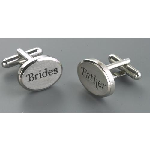 Brides Father Wedding Cufflinks supplied in a gift box