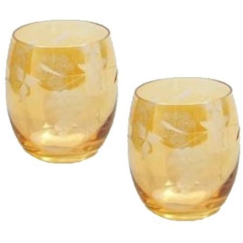 Star Glass Classic Cranberry Whisky Tumbler (Amber) Ref CRA004