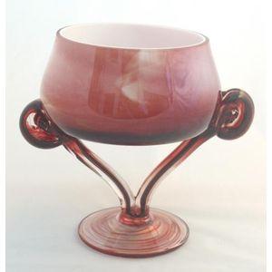 Small Red Metallic Swirl Bowl