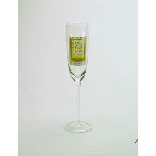 50th Happy Birthday Glass Flute