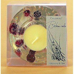 Tea Light Holder - Hollyberry & Pine