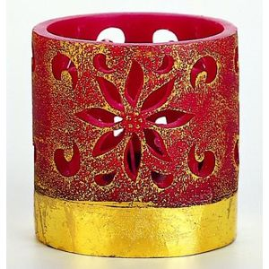 Red & Gold Lantern Candle