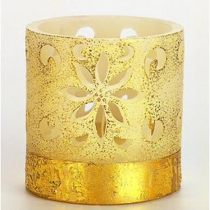 Colonial Lantern Candle - Ivory & Gold