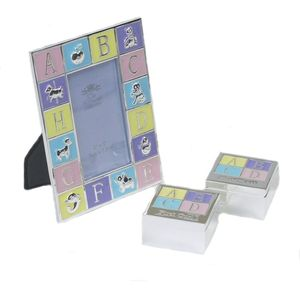 Silver Plated Baby Photo Frame & Trinket Box gift set