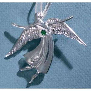 Birthstone Angel Pin - May
