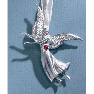 Birthstone Angel Pin - July