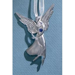 Birthstone Angel Pin - September
