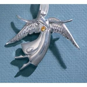 Birthstone Angel Pin - November