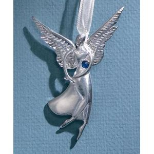 Birthstone Angel Pin - December