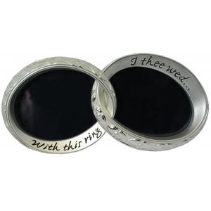 """Shudehill Wedding Double Photo Frame 6.5"""" x 8.5"""" - With this ring - I thee wed"""