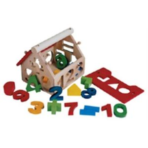 Number and shape sorting house Wooden Toy