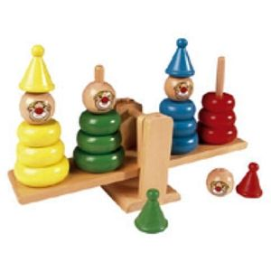 Balancing Clown Wooden Toy