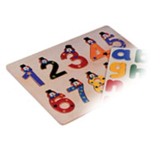 Educational Wooden Number Jigsaw Puzzle With Clown Face Design