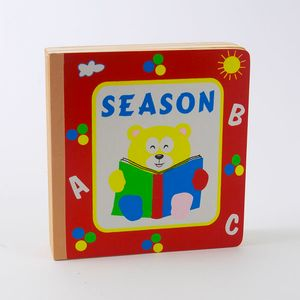 Season ABC wooden childrens puzzle book