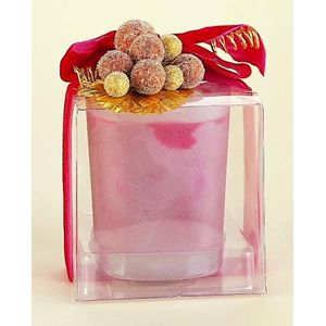 Christmas Scented Candle in a Glass Holder - Cinnamon
