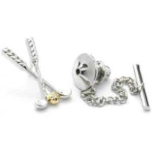 Golf Clubs & Ball Tie Pin
