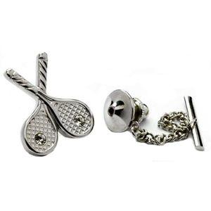 Tennis Tie Pin with Swarovski Crystals