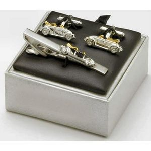 VW Beetle Car Cufflinks & Tie Bar Gift Set